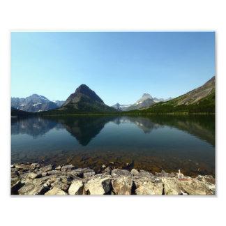 0336 8/12 lago st. Mary en glaciar Fotografía