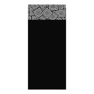 033 black WHITE SQUARES LAYERED COLLAGE ARTISTIC R Rack Card