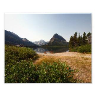 0340 8/12 lago st Mary en glaciar Cojinete