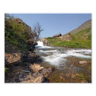 0353 8/12 Swiftcurrent Falls in Glacier. Photo Print