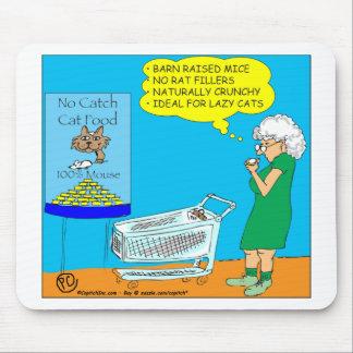 036 No Catch Cat Food Cartoon Mouse Pad