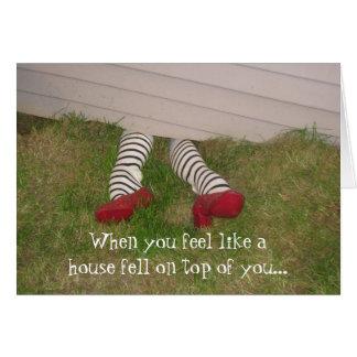 03-21-10 062, When you feel like a house fell o... Greeting Card