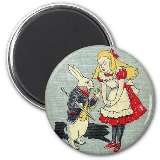 03 - Alice Book Cover 2 Inch Round Magnet