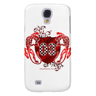 03 auto racing number tigers galaxy s4 case