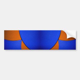 03 Blue & Orange Bumper Sticker Car Bumper Sticker