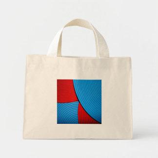 03 bolso abstracto azul y rojo de la flor bolsa de mano