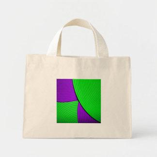 03 bolso abstracto verde y púrpura de la flor bolsas lienzo