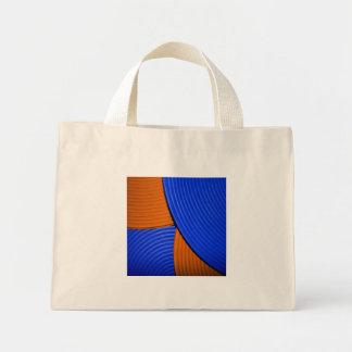 03 bolso azul y anaranjado de la flor bolsas de mano