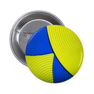 03 botón abstracto amarillo y azul de la flor
