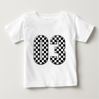 03 checkered auto racing number baby T-Shirt