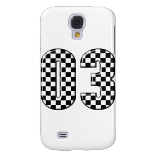 03 checkered auto racing number samsung s4 case