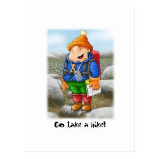 03 Go take a hike Postcard