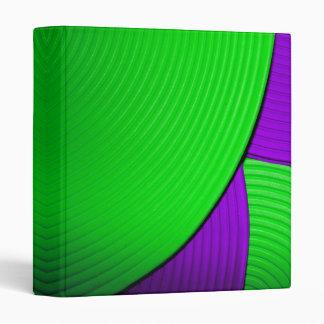 "03 Green & Purple Abstract Flower 1"" Avery Binder"