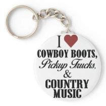 03 I heart cowboy boots Keychain