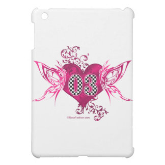 03 race car number butterflies case for the iPad mini