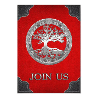 [03] Silver Celtic Tree of Life Card