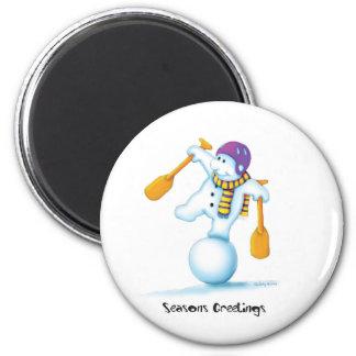 03_snowman imán redondo 5 cm