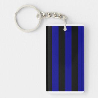 03 - Stripes - Black and Dark Blue Acrylic Key Chains