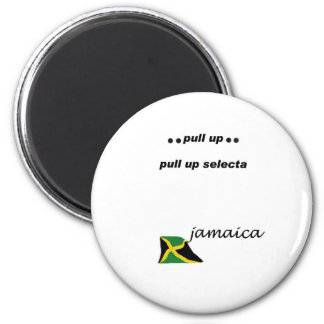03w Jamaica Pull up selecta 2 Inch Round Magnet