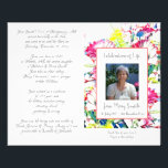 """#040749 Memorial Funeral Order of Service Program Flyer<br><div class=""""desc"""">Customize with your text &amp; photo - Programs are double sided and will be Folded when complete,  make sure your text is centered to half page / foldline when editing - Graphic Design by KDArtStudio c.2017</div>"""