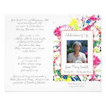 #040749 Memorial Funeral Order of Service Program Flyer