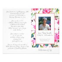 #040830 Memorial Funeral Order of Service Program Flyer