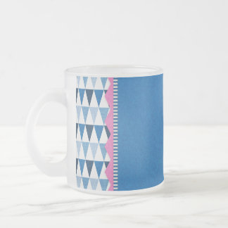040 BLUE SCRAPBOOKING DIGITAL BACKGROUNDS WHITE PI FROSTED GLASS COFFEE MUG