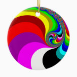 040 Obama - Fractal Art Ceramic Ornament