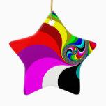 040 Obama - Fractal Art Ceramic Ornament