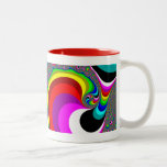 040 Obama - Fractal Art Two-Tone Coffee Mug