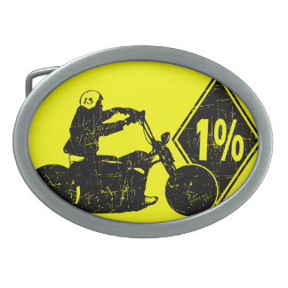 0413032011 Biker 1% Distress (Biker) Belt Buckle