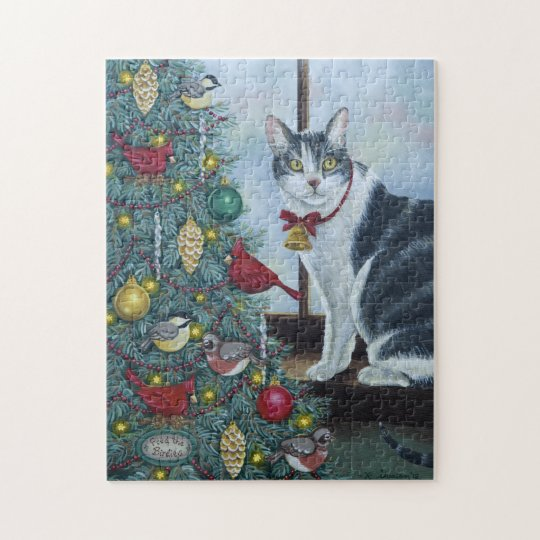 0417 Christmas Cat Jigsaw Puzzle