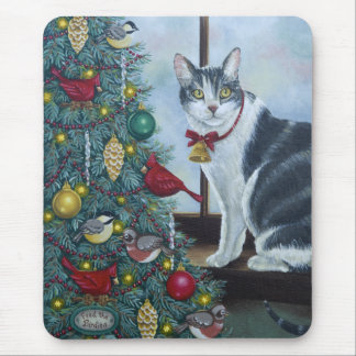 0417 Christmas Cat Mouse Pad