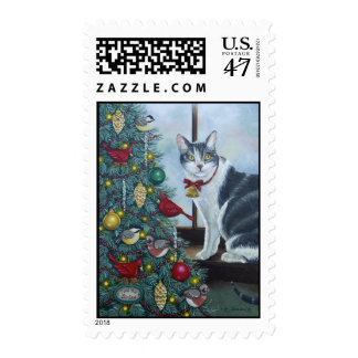0417 Christmas Cat Postage