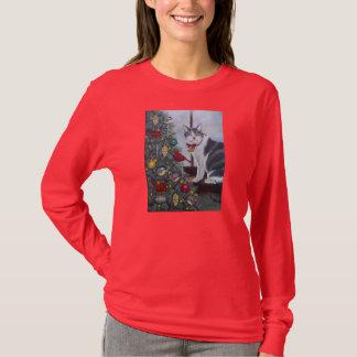 0417 Christmas Cat T-Shirt