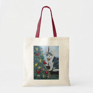 0417 Christmas Cat Tote Bag