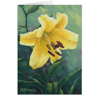 0422 Yellow Lily Greeting Card
