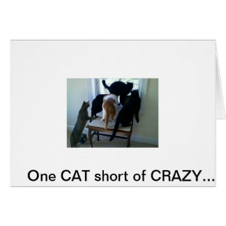 042310_09301[1], One CAT short of CRAZY.... Stationery Note Card