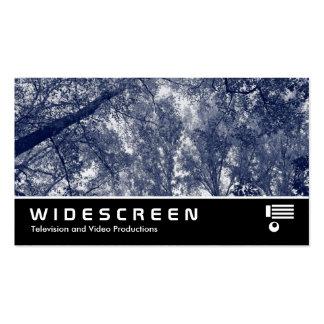 0423 con pantalla grande - Otoño azul Tarjetas De Visita