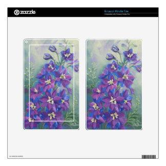0429 Purple Delphinium Kindle Fire Skin