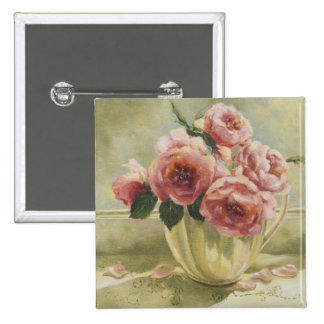 0437 English Roses in Pitcher Button