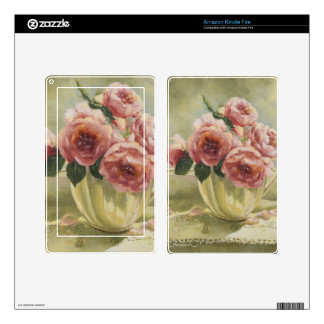 0437 English Roses in Pitcher Kindle Fire Decal
