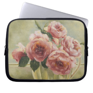 0437 English Roses in Pitcher Laptop Sleeve