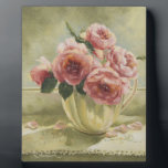 "0437 English Roses in Pitcher Plaque<br><div class=""desc"">From an original acrylic painting by Ruth Garrison.</div>"