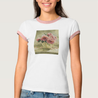 0437 English Roses in Pitcher T-Shirt