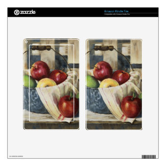 0449 Apples in Enamelware Pail Decals For Kindle Fire