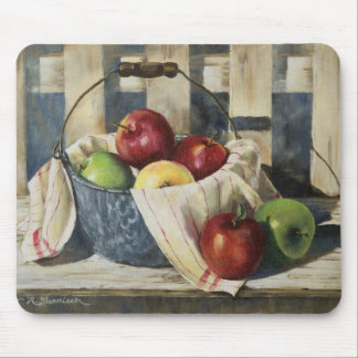 0449 Apples in Enamelware Pail Mouse Pad