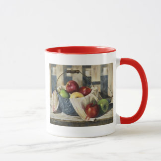 0449 Apples in Enamelware Pail Mug