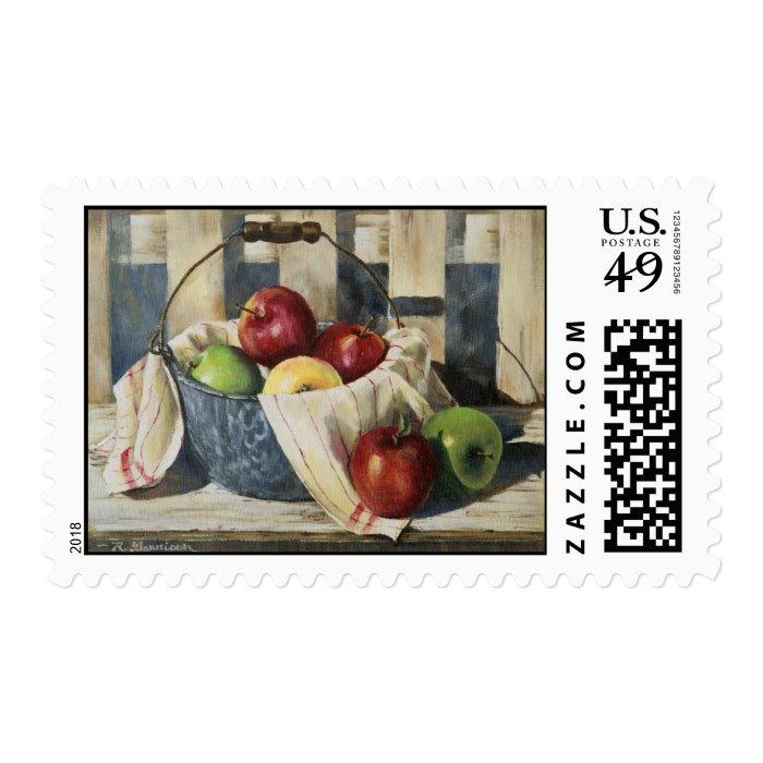 0449 Apples in Enamelware Pail Postage