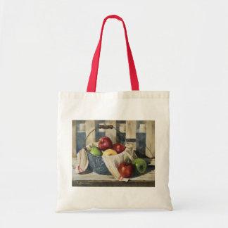 0449 manzanas en cubo del Enamelware Bolsas De Mano